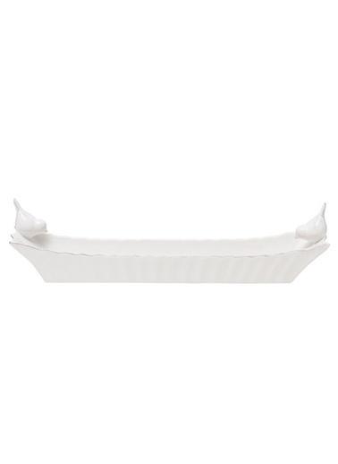 Warm Design Beyaz Seramik Kuş Figürlü Kase Beyaz